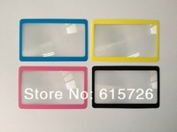wholesale 100pcs/lot  retail gift Ultra thin Credit 3X Card magnifier - read reading bookmark Big magnifying area
