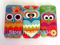 Free Shipping,Cartoon Owl Hard Case for Samsung Galaxy S4 i9500 New Products