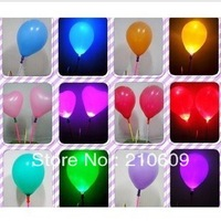 Led glow stick luminous balloon flash balloon light ball colorful flash balloon latex