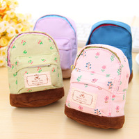 School Bag Style Flower Girl's Wallets Mini Bear Coin Case Key Wallet  Bulk Price 10 piece or more
