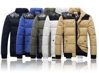 2013 Hot! men down Free shipping Men's coat Winter overcoat Outwear Winter jacket wholesale padded jacket thick cotton