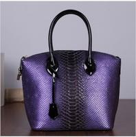 New arrival 2014 Women's cowhide genuine leather Handbag Fashion Crocodile pattern shoulder women messenger bag genuine leather