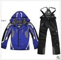 New Arrival Men windproof ski skiing pants suit set thickening outdoor jacket pants set