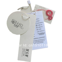 within 9x4.5cm custom printed clothes hang tag/free shipping/free fee design/matt lamination(best price)