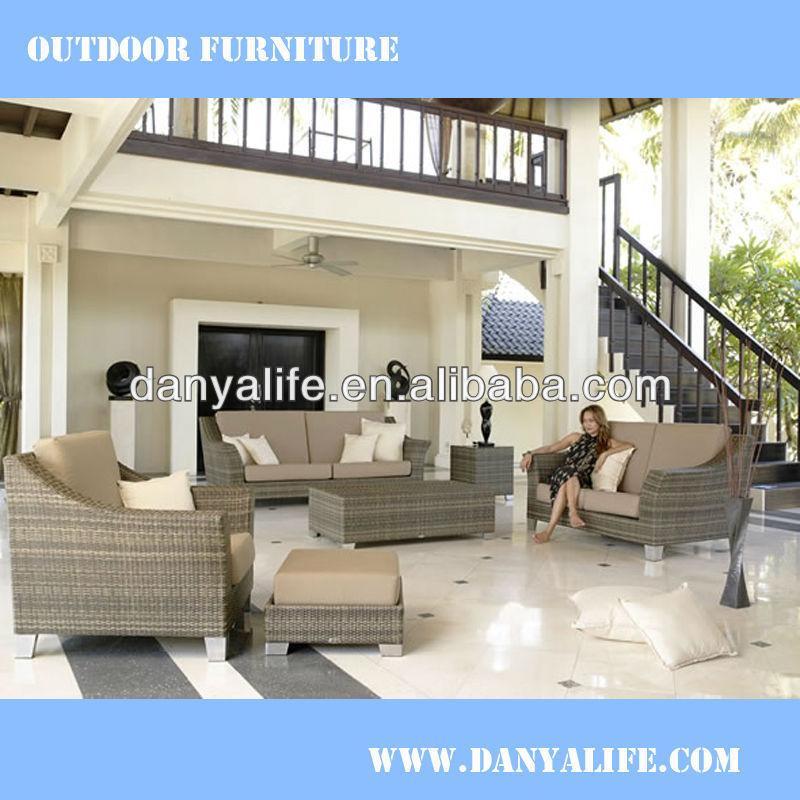 DYSF-D7401,Garden Patio Sofa Set,Outdoor Restaurant Sofa Chair,Rattan Wicker Cane Lounge Chair,4 Seat Swimming Pool Sofa Set(China (Mainland))