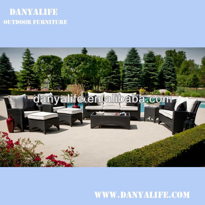 Dysf d8705 wicker garden patio sofa set rattan outdoor - Garden center madrid ...