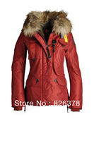 Women Paraju Gobi Raccoon Fur Hood Jacket Fashion casual short Down Coat warm outdoor PJ.S Brand down Parka womens winter 2013