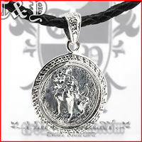 Fashion Jewelry 925 Silver Guy Kirin Kirin Medallion Antique Lion Bridesmaids Jewelry Pendants Necklaces without Setting