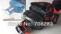 Free Shipping High-quality  Adjustable CREE Q5 LED 300 Lumens 5W 3 Modes Headlamp Flashlight torch, waterproof  flashlight