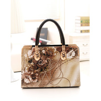 Autumn new 2014 women leather handbags crocodile print pattern women handbag