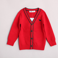 New arrival d071506 autumn female child fashion V-neck sweater
