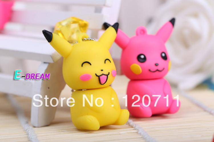 E-DREAM free shipping 4-32GB Cartoon mini lovely Pikachu model USB Flash Drive Thumb Car Pen drive Personality Gift(China (Mainland))