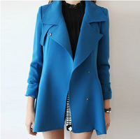Trench outerwear women's 2013 autumn and winter slim medium-long women's trench outerwear