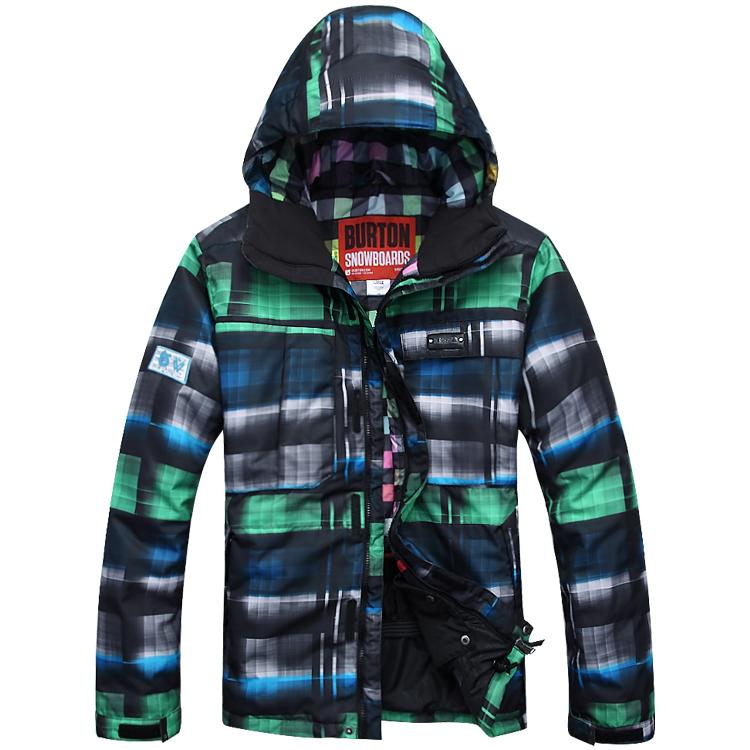 Skiing clothing burton ski suit male ski suit waterproof gradient color monoboard ski suit(China (Mainland))