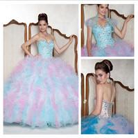 Free Shipping Fashion Sweetheart Quinceanera Dress Beaded Ball Gown Dress Stunning Prom Prty Dress Custom Dress