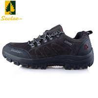 Sevlae outdoor shoes hiking shoes men autumn and winter water shock absorption walking shoes slip-resistant sports shoes