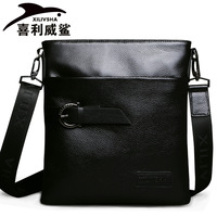 Free shipping Galeoid 2013 cowhide man bag commercial genuine leather shoulder bag messenger bag male