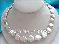 Jewelry 00418 Wonderful eerie White Reborn Keshi Pearl Necklace