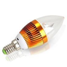 #Cu3 3W E14 3 SMD LED Energy Saving Candle Chandelier Lamp Light Bulb Warm White(China (Mainland))