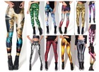 2013 Women Sexy vintage Egypt Pharaoh King Tut Cheshire Cat Mechanical Bones White Black Aurora Skye Orange Leggings HOT Sale(China (Mainland))