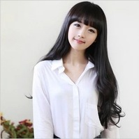 Free Shipping Womens Girls Popular Sexy Long Fashion Full Wavy Hair Wig