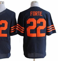 Free shipping China Cheap new American Football Elite jerseys #22 Matt Forte jersey Navy Jersey Sz 40-56 All Stitched sportswear