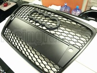 MATTE BLACK MESH FRONT GRILLE FOR AUDI 2005-2007 A4 B7 RS STYLE (Brand new, no MOQ, In stock, Free shipping)