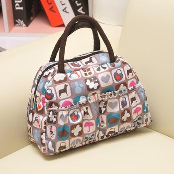 New waterproof printing fashion casual lunch bag ladies handbag make up bag