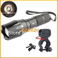 Free shipping A100 CREE XML T61000Lumens of 5Mode LED mini flashlight waterproof camping tent 1 * Bicycle Clip