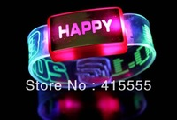 HAPPY  light-emitting watch flash  glow bracelets  Light Party Glow   Halloween Christmas gift