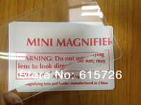 wholesale 50pcs/lot transparent Credit Card Magnifiers gift Magnifier 3x Magnification, supper thin wallet magnifier