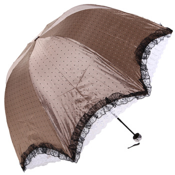 Vinyl satin lace big lace princess umbrella, super anti-UV umbrella of Apollo