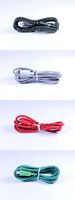 100pcs/lot,3M 10FT Nylon/Fabric Micro USB Extension Data Sync Cable For Samsung Galaxy S4/ for HTC,Free Shipping