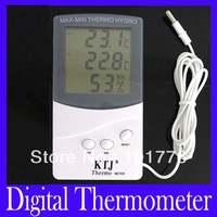 Free shipping indoor outdoor Digital LCD thermometer TA338 with retail package,2pcs/lot