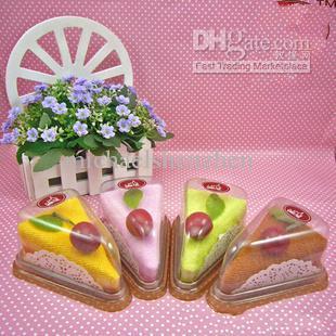 100%Cotton Shower Towel Sandwich Cake ice cream pets wine flower/ Wedding Christmas Valentines Birthday gifts 30*30cm cake towel(China (Mainland))