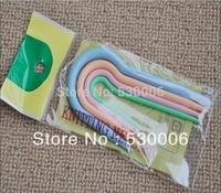 Wholesale 50 sets/Lot 4 Size Specialized U Shape Plastic Crooked Needle Cable Stitch Holder Knitting Needles DIY Tool Multicolor