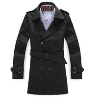Free shipping /  of new fund of 2013 autumn winters men's fashion cultivate one's morality long trench coat / Double-breasted