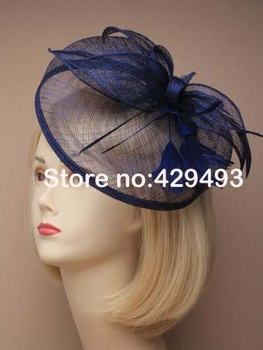 Free Shipping HOT sinamay fascinator in SPECIAL shape with feathers, TOP grade workmanship, 4 Mix Color