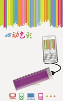 free shipping 10pcs 1500MAH mini USB Power Bank lipstick portable external battery charger for mobile phone,MP3