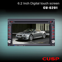 6.2 inch universal car dvd player CU-6201 for all cars wiht radio/audio/GPS/Bluetooth/RDS/IPOD/S/USB/TV