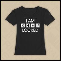 free shipping Short-sleeve T-shirt for woman TV series Sherlock Holmes theme 3 colors black white grey
