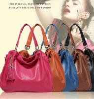 2013 New arrival European fashion women's genuine leather handbag cowhide shoulder bag lady's cross body large totes B93001