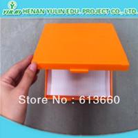 100 pieces  plastic microscope prepared slides box