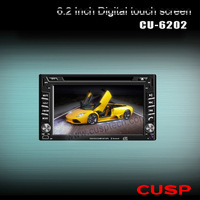universal 2-Din 6.2 inch CU-6202 Car DVD player with GPS Navigation/audio/Radio/stereo/Bluetooth/TV/ touch screen
