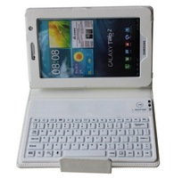 "Brand Wireless Bluetooth Flip Magnetic Stand Leather Keyboard Case Smart Cover For Samsung Galaxy Tab 3 7"" P3200 P3210 T210 T211"