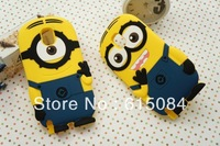 50pcs/lot dhl free shipping wholesale Despicable Me minions silicone case For Samsung Galaxy Note 3 III N9000 silicon cover