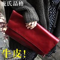 Clutch women's handbag 2014 clutch bag female genuine leather envelope clutch bag female day fashion cowhide