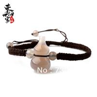 Natural agate gourd bracelet crystal bracelet knitted rope bracelets national trend free shipping