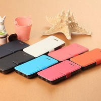 Fashion Candy Colour Leather Case For Iphone 5c Cover Free Shipping