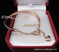 (Minimum order $ 10)  paragraphs k gold plating elements LOVE auger heart-shaped counters jewelry fashion women new 2014